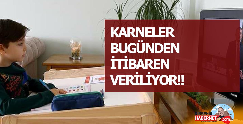 KARNELER BUGÜNDEN İTİBAREN VERİLİYOR!!