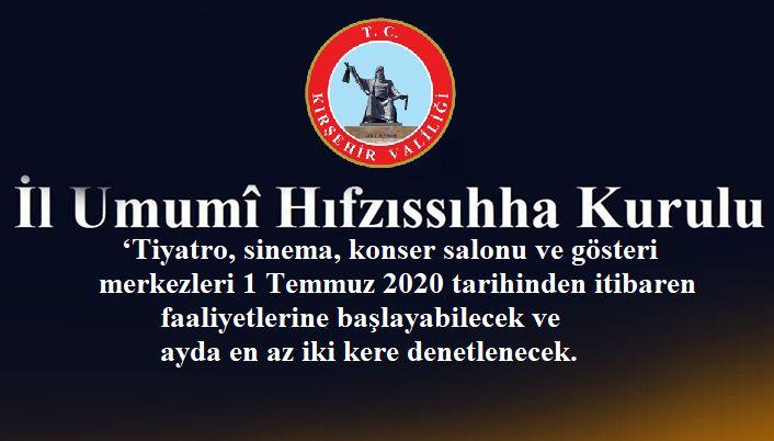 1 TEMMUZ 2020 CORONAVİRÜS KARARLARI!!