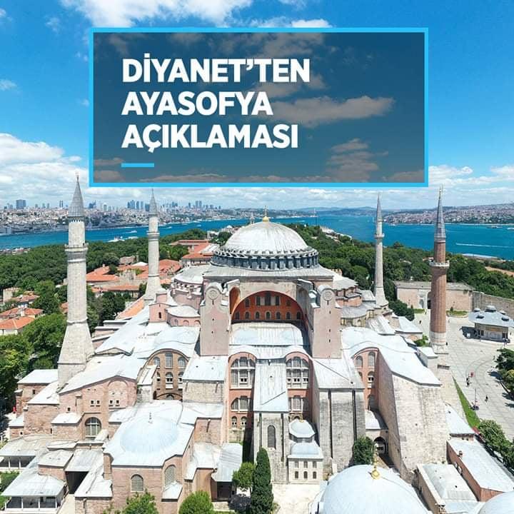 Diyanet: Ayasofya'daki resimler burada kılınacak namazların sıhhatine engel değil!!