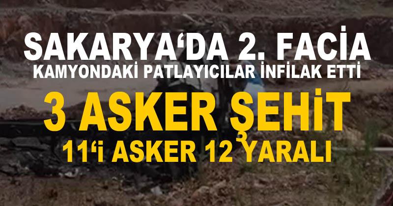 Sakarya'da aynı fabrikada patlama oldu; 3 askerimiz şehit oldu