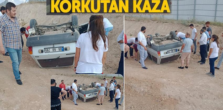 Mucur İnanç Köyü civarında kaza meydana geldi