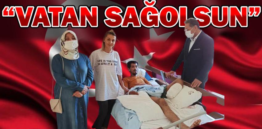 """GAZİ CEYLAN ŞAHİN """"VATAN SAĞOLSUN"""" DEDİ"""