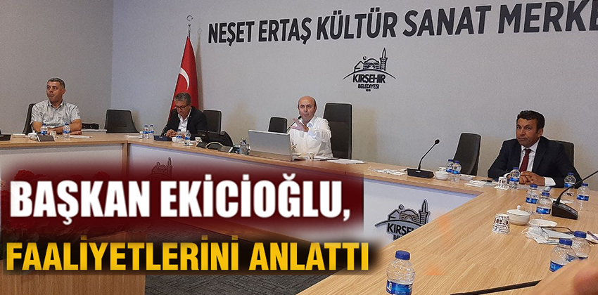 BAŞKAN EKİCİOĞLU FAALİYETLERİNİ ANLATTI !!