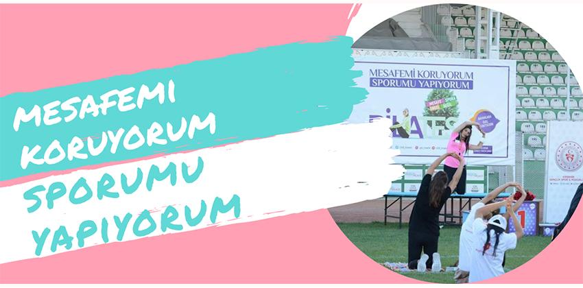 """""""MESAFEMİ KORUYORUM SPORUMU YAPIYORUM"""""""