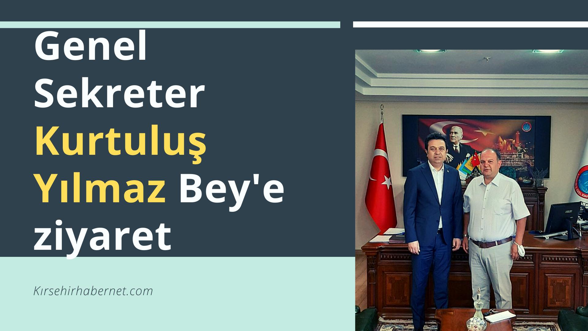 İL ÖZEL İDARESİ GENEL SEKRETERİ ZİYÂRET EDİLDİ !!