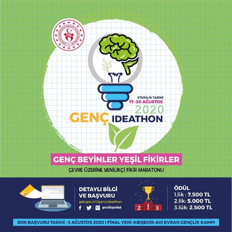 GENÇ IDEATHON FİNALİ AHİ EVRAN GENÇLİK KAMPINIZDA !!