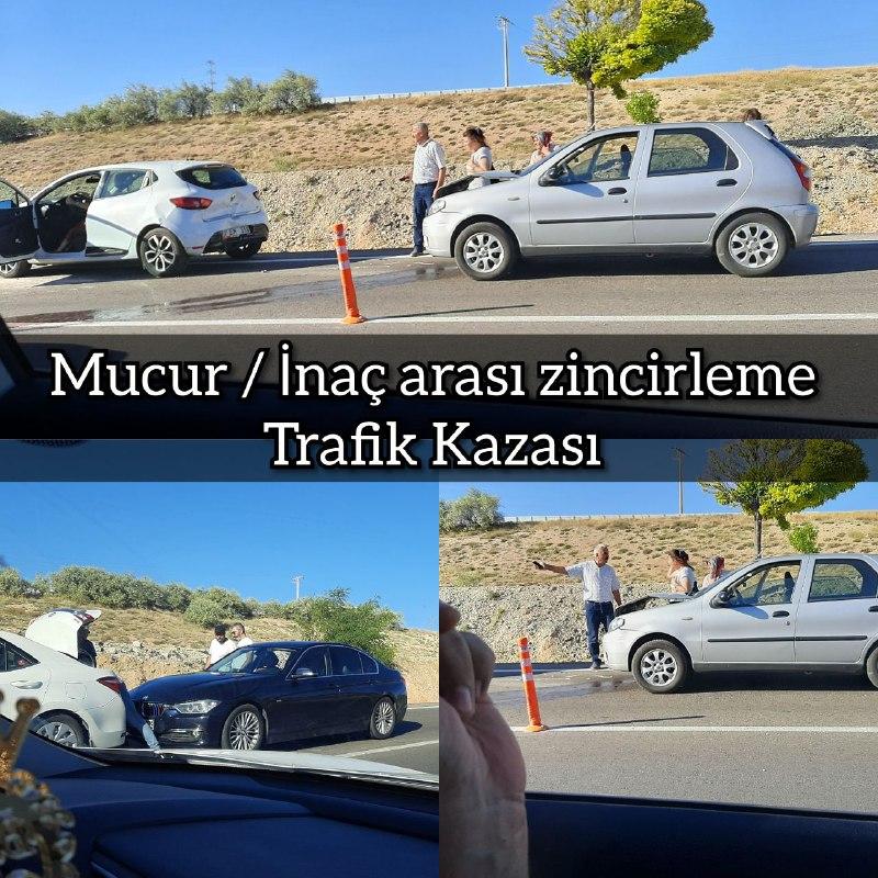 MUCUR / İNAÇ KÖYÜ ARASINDA ZİNCİRLEME KAZA!!