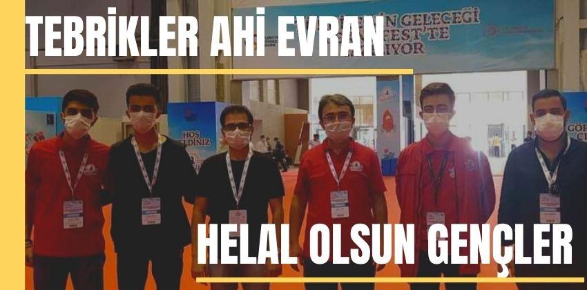 TEBRİKLER AHİ EVRAN ÜNİVERSİTESİ !!