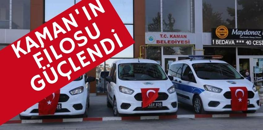 KAMAN BELEDİYESİ ARAÇ FİLOSUNA 3 YENİ ARAÇ EKLEDİ !!