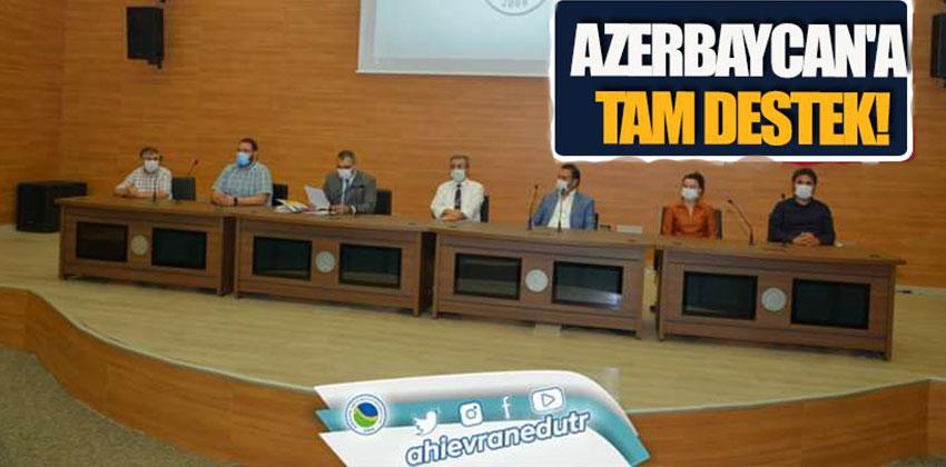 AHİ EVRAN ÜNİVERSİTESİNDEN AZERBAYCANA DESTEK AÇIKLAMASI !!