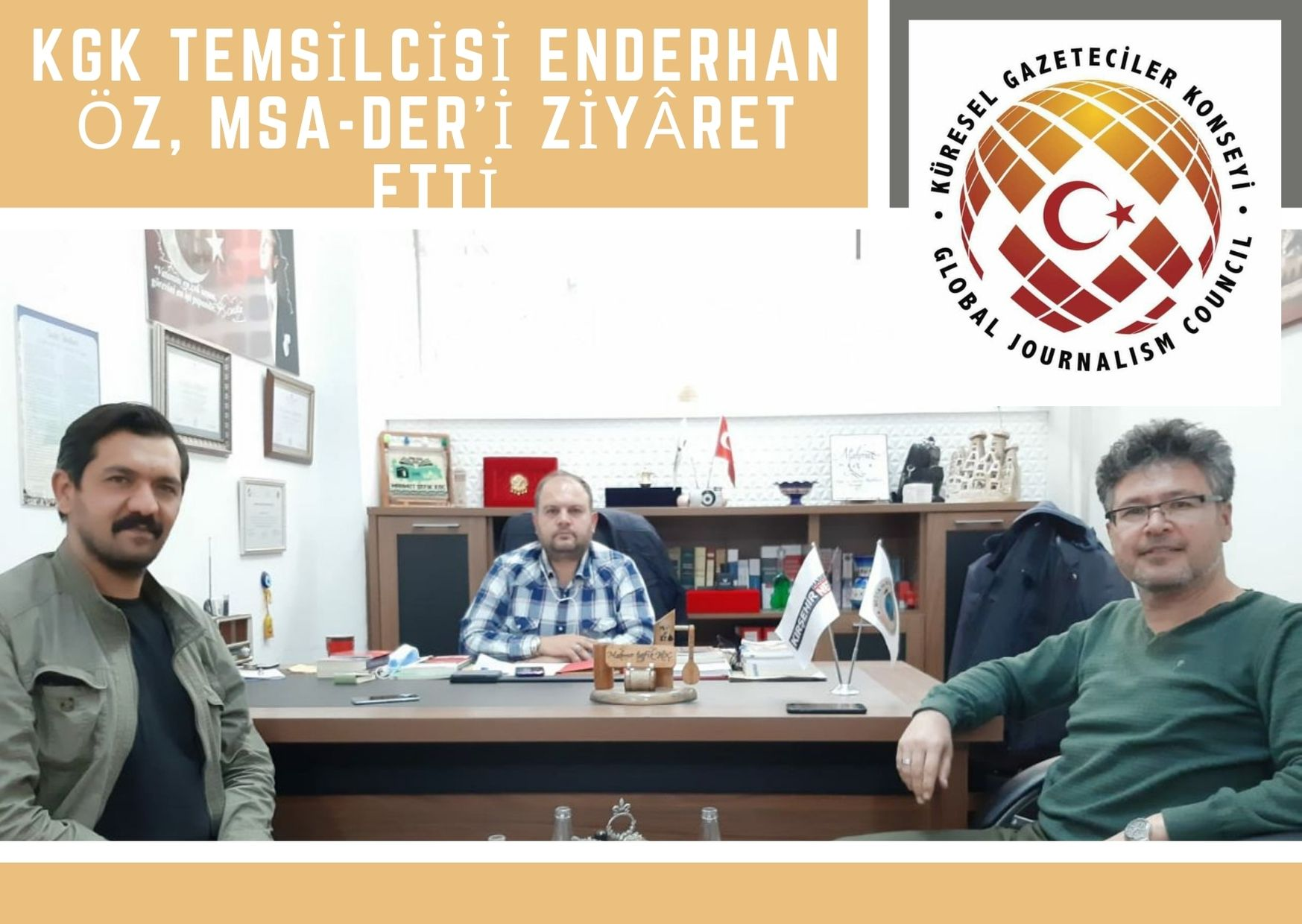 KGK TEMSİLCİSİ ENDERHAN ÖZ, MSA-DER'İ ZİYÂRET ETTİ