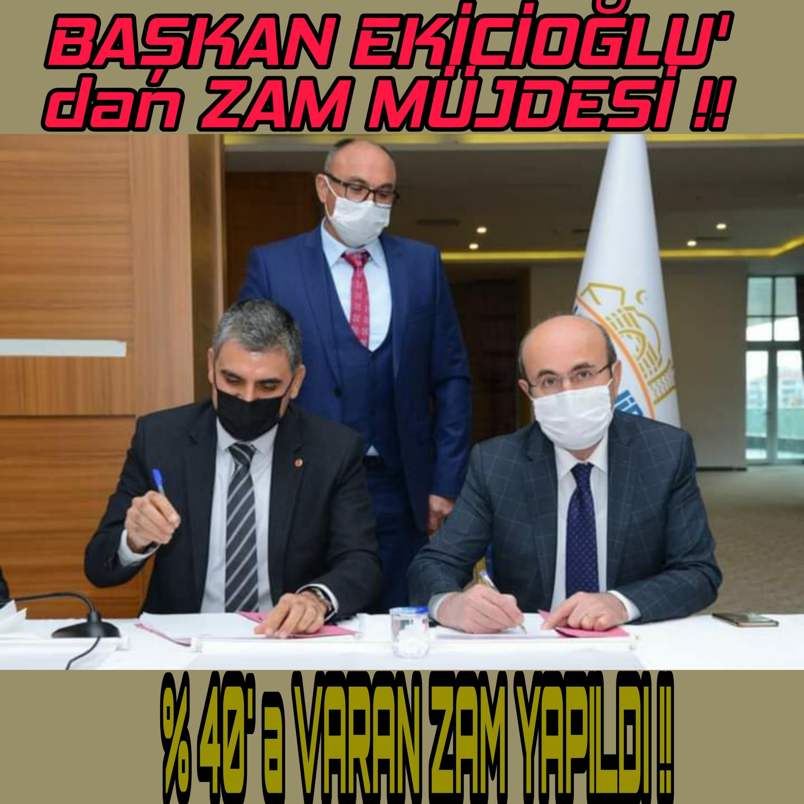 BAŞKAN EKİCİOĞLU EMEKÇİ' nin YANINDAYIM !!