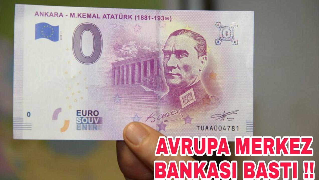 AB PARASINA ATATÜRK' ü EKLEDİ !!