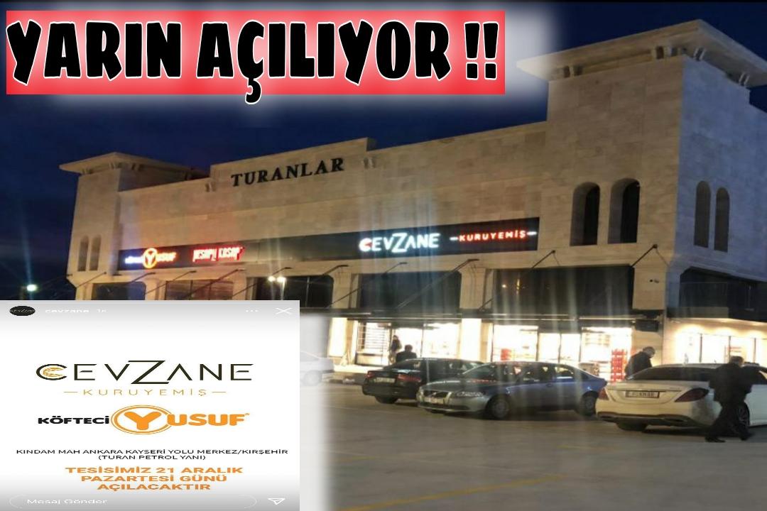 ÜNLÜ MARKA KÖFTECİ YUSUF & KURUYEMİŞ YARIN AÇILIYOR !!