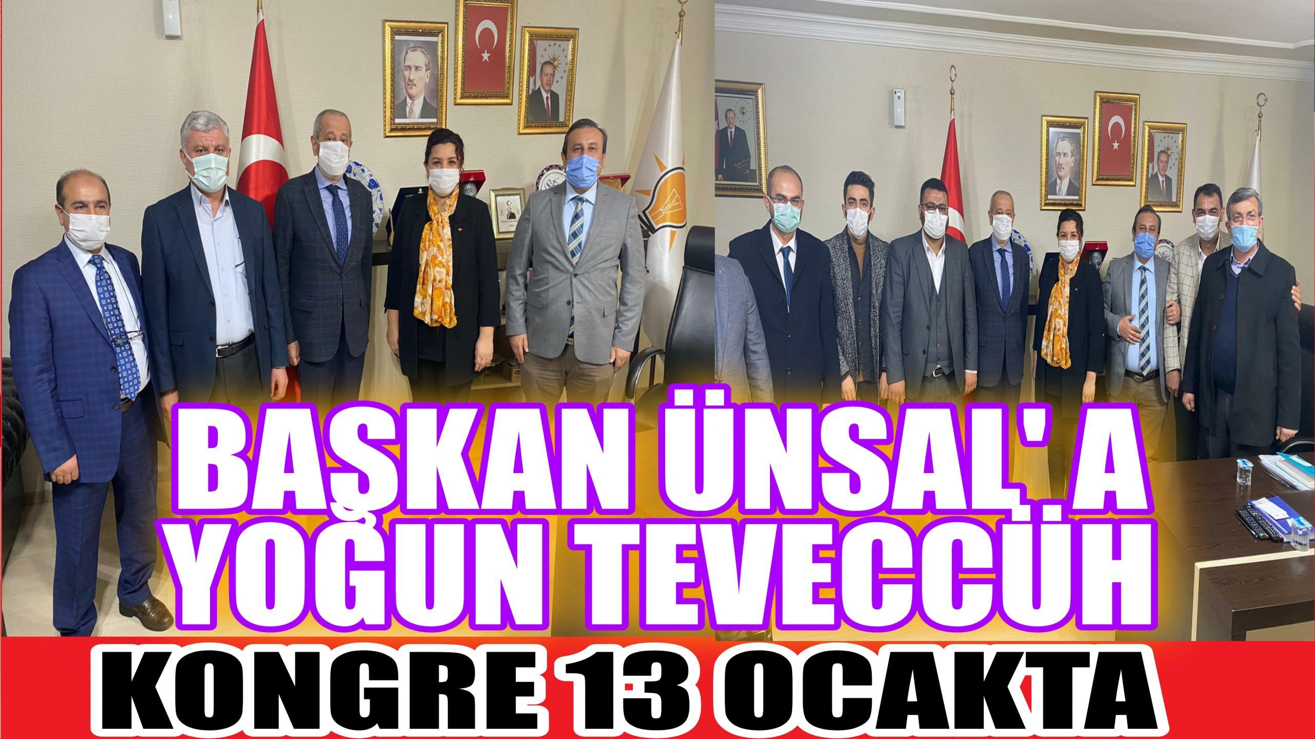 BAŞKAN ÜNSALA YOĞUN TEVECCÜH DEVAM EDİYOR!!