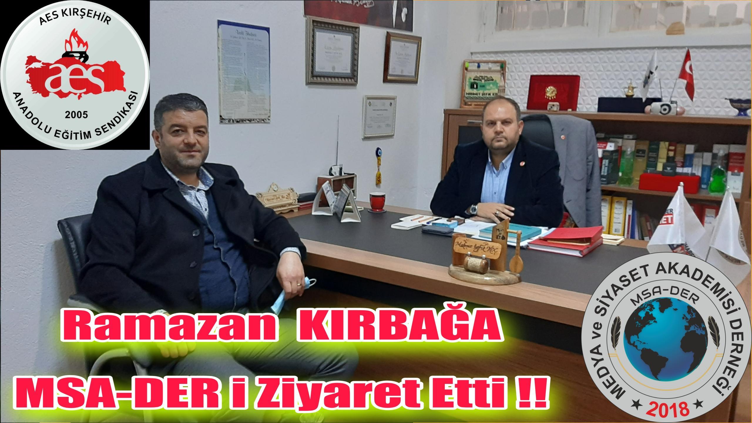 AES KIRŞEHİR ŞUBE BAŞKANI ZİYÂRETİ !!