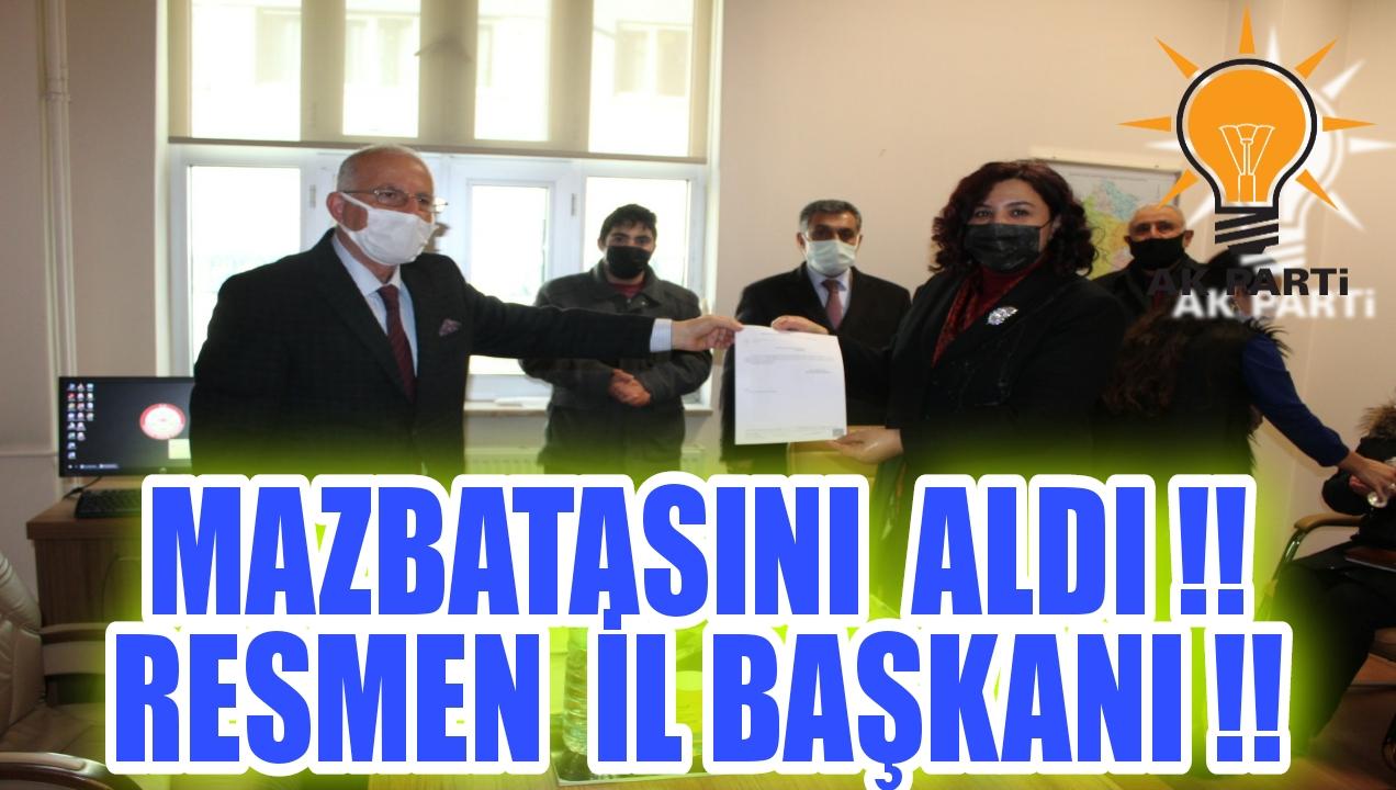 SEHER ÜNSAL İL BAŞKANI OLDU !!