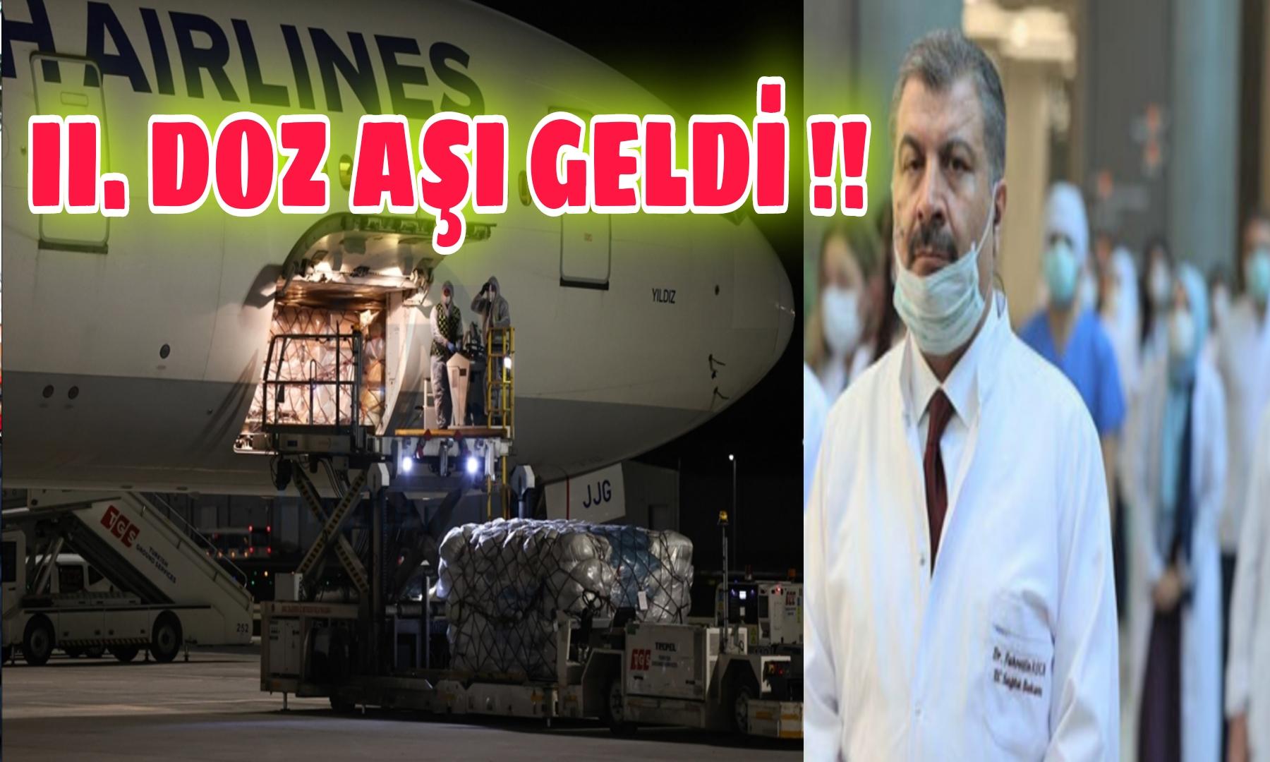 ÇİN' den 2. DOZ AŞI GELDİ !!