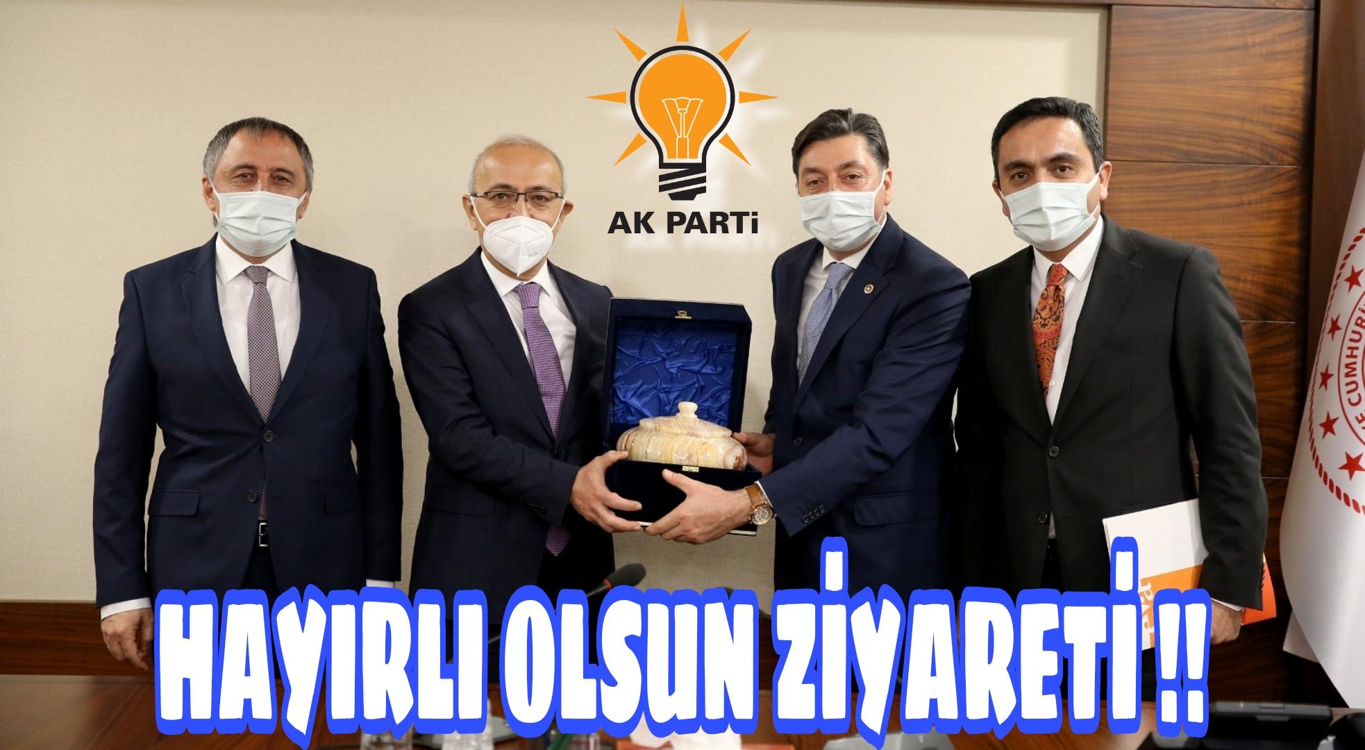 HAZİNE BAKANINA ZİYARET !!