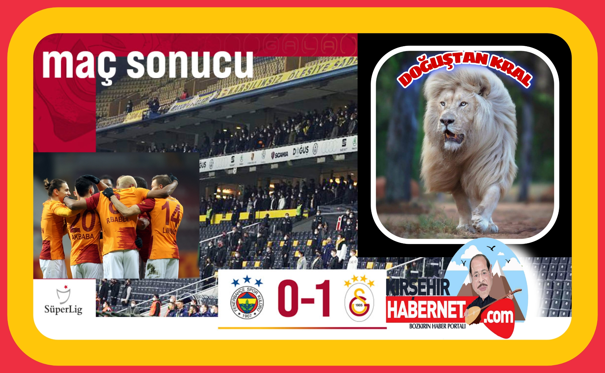 DERBİYİ GALATASARAY KAZANDI !!