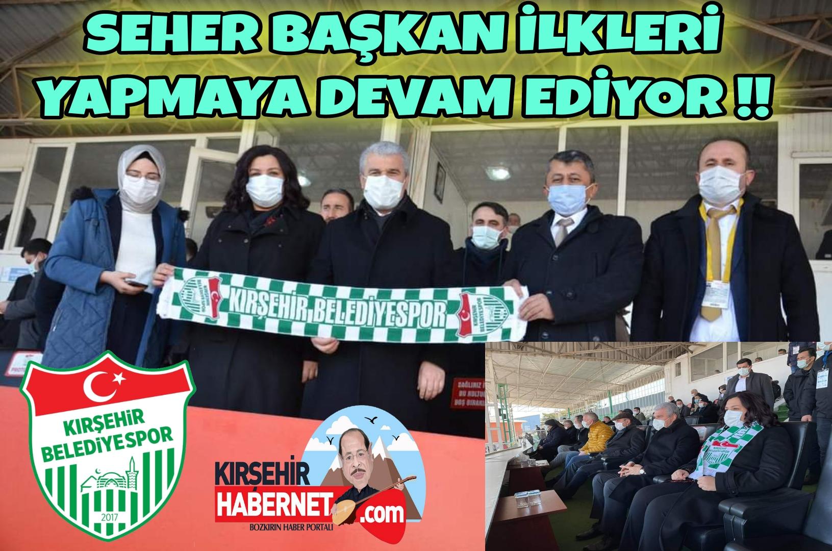 BAŞKAN ÜNSAL, KIRŞEHİR BELEDİYESPOR MAÇINI İZLEDİ !!