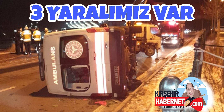 AKPINAR' da AMBULANS DEVRİLDİ !!