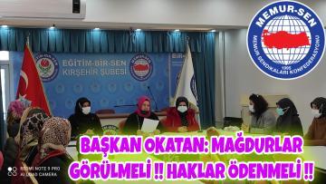 MAĞDURİYET GİDERİLMELİ DEDİ !!