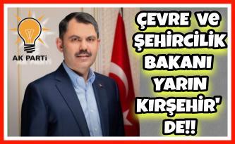 BAKAN KURUM YARIN KIRŞEHİR' DE !!