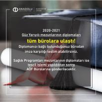 Diplomalar Tüm İllere Gönderildi ‼️